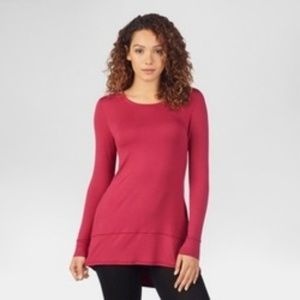 Warm Essentials by Cuddl Duds Red Tunic Base Layer